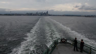 Stock Video Footage of Seattle - Puget Sound Ferry
