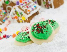 Frosted holiday cookies for the season of joy Stock Photos