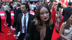 Olivia Wilde on the red carpet at the London Premiere of The Lone Ranger. Stock Footage