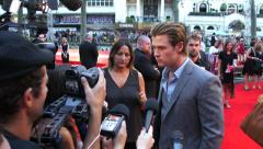 Chris Hemsworth on the red carpet at the London Premiere of The Lone Ranger. Stock Footage
