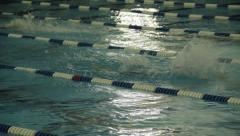 Swimmer at a Track Meet Stock Footage