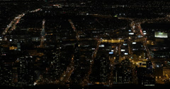 Ultra HD 4K Night llumination Cityscape Aerial View New York City NYC Viewpoint Stock Footage