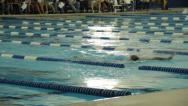 Stock Video Footage of Swimmers at a swim meet