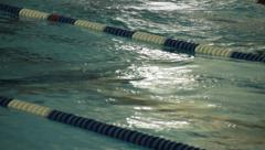 Swimmer competing Stock Footage