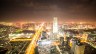 Stock Video Footage of 4k resolution Prores422 HQ, Beijing City night time lapse cloudscape