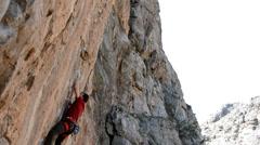Rock Climber Falling Stock Footage