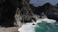 Stock Video Footage of Big Sur-McWay Falls-Medium 01