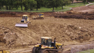 Stock Video Footage of Bulldozer working on a Construction site