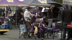 Tailgate Party Stock Footage