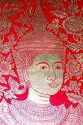 Thailand temple's mural Stock Photos