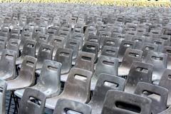 Chairs in St Peters Square, Pope Mass, Rome Stock Photos