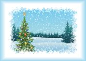 Stock Illustration of Winter landscape with Christmas tree