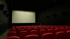 Cinema empty side back 001 level Stock Footage