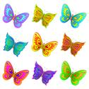 Stock Illustration of Set butterflies