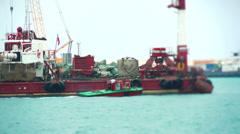 Sea Port of Sochi Stock Footage