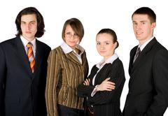 young friendly business team - stock photo