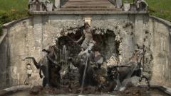 The fountain in Linderhof Palace. Bavaria, Germany. Stock Footage