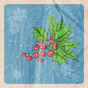 Holly berry - stock illustration