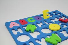 Colorful Foam Alphabet Puzzle Stock Photos