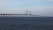 Stock Video Footage of The Bridge from Sweden to Denmark
