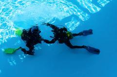 diver training - stock photo