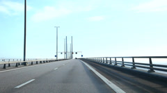 The Bridge from Sweden to Denmark Stock Footage