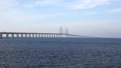 The Bridge from Sweden to Denmark - stock footage