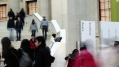 0145 British Museum in London Stock Footage