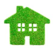 grass home - stock illustration