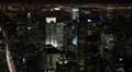 Night llumination Aerial View New York City NYC Crowded Buildings Area Citigroup Footage