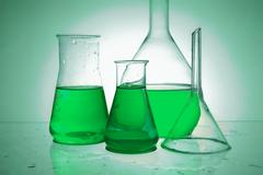 chemical retorts - stock photo
