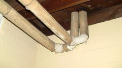 Pipes Covered In Asbestos - stock photo