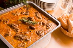 Meat in casserole - stock photo