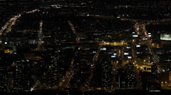 Night llumination Cityscape Aerial View New York City NYC Viewpoint Panorama Stock Footage