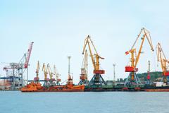 freight port - stock photo