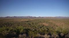 Arizona Desert - Mountains Pan Stock Footage