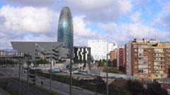 Spain Catalonia Barcelona Glories Catalanes square Flea Market Mercat dels Stock Footage