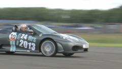 Ferrari's on track Stock Footage
