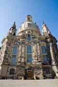 Dresdens rebuilt Frauenkirche - stock photo