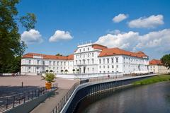 The palace of Oranienburg Stock Photos