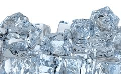 heap of ice cubes - stock illustration