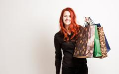 Cute shopper. Stock Photos