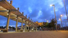 T/L Spain Catalonia Barcelona Glories Catalanes square Flea Market Mercat dels Stock Footage