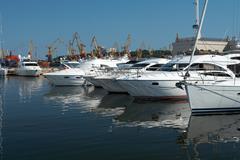quite harbour - stock photo