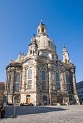 Dresdens rebuilt Frauenkirche Stock Photos