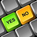 Stock Illustration of yes and no button on the keyboard.