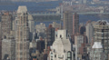 Midtown Skyline Aerial View New York City Modern Skyscrapers Structure Daylight HD Footage