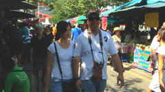 BANGKOK - November 2, 2013  thailand chatuchak-weekend-market. Stock Footage