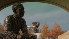 4K Mister Rogers Statue in Pittsburgh 3801 - stock footage