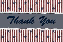 Patriotic thank you Stock Illustration